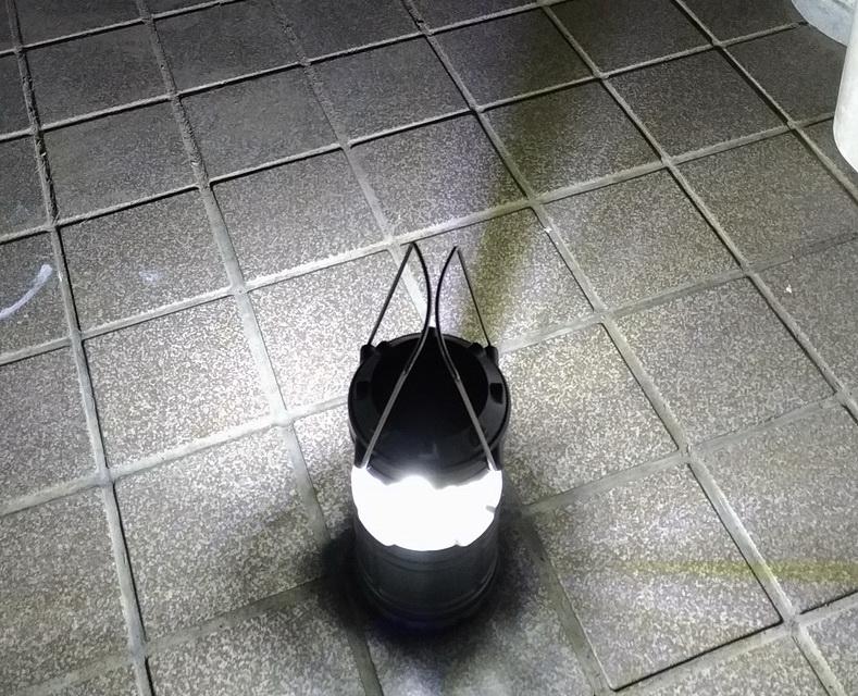 igokuのLEDランタンの明るさ