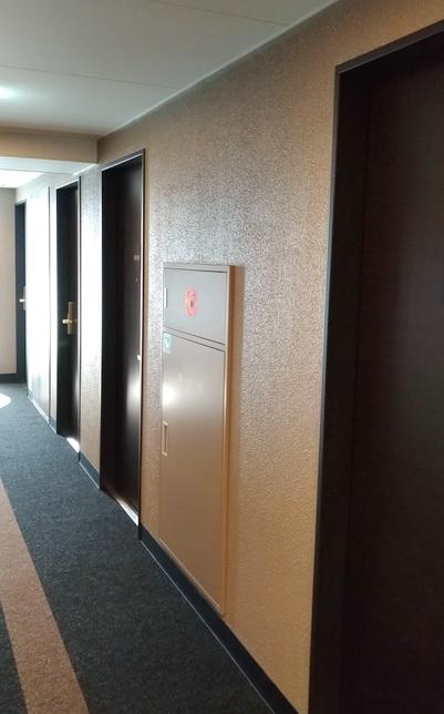 アパホテル千葉駅前、建物内の廊下
