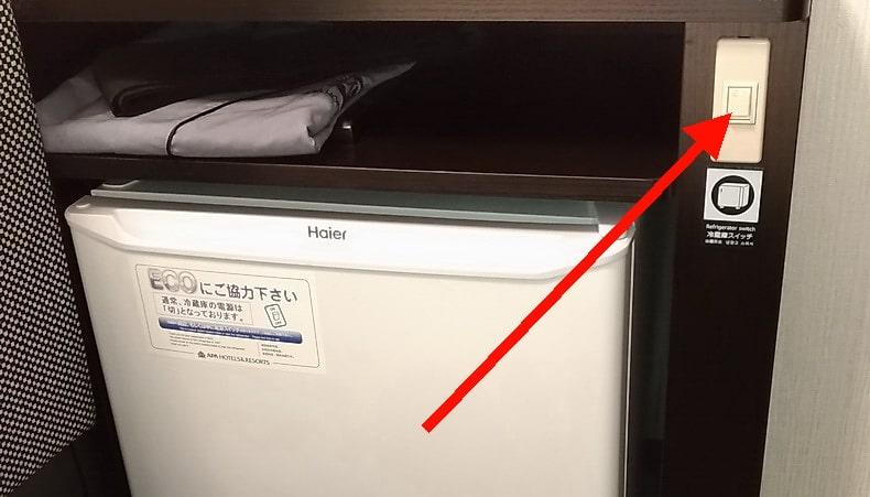 冷蔵庫は自分でスイッチを入れます