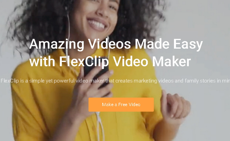 【無料】FlexClip video editor