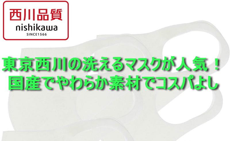 東京西川の洗えるマスクが人気!国産でやわらか素材でコスパよし!